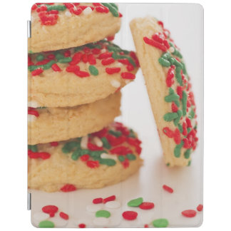 Studio Shot of christmas cookies with sprinkles iPad Cover
