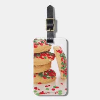 Studio Shot of christmas cookies with sprinkles Luggage Tag