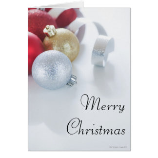 Studio shot of Christmas ornaments Greeting Card