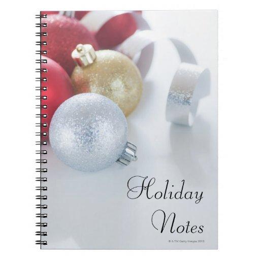 Studio shot of Christmas ornaments Spiral Note Books
