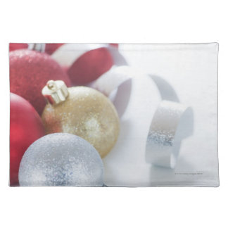 Studio shot of Christmas ornaments Place Mat