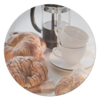 Studio shot of Croissants Dinner Plates