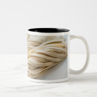 Studio shot of fresh linguini pasta Two-Tone coffee mug