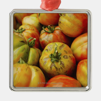 Studio shot of heirloom tomatoes Silver-Colored square decoration