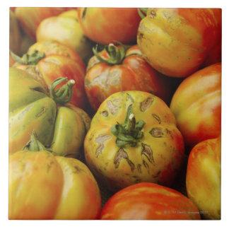 Studio shot of heirloom tomatoes tile