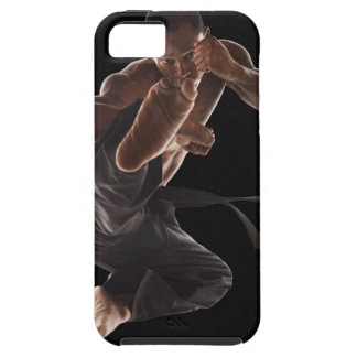 Studio shot of martial arts practitioner in case for the iPhone 5