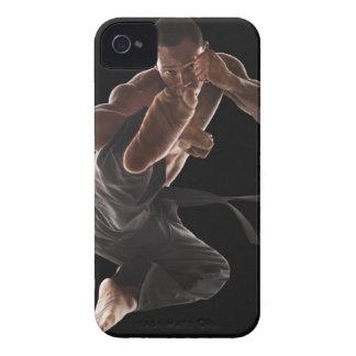 Studio shot of martial arts practitioner in Case-Mate iPhone 4 case