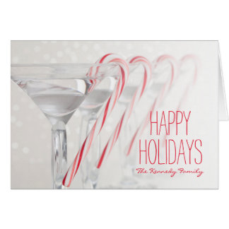 Studio shot of martini drink with peppermint card