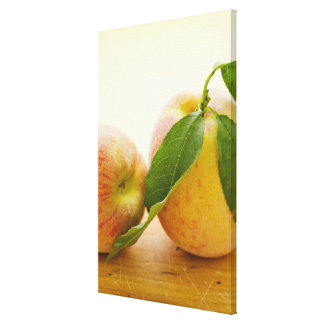 Studio shot of peaches canvas print