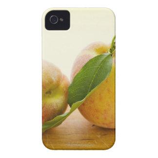 Studio shot of peaches iPhone 4 case