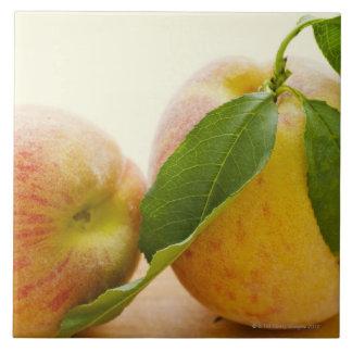 Studio shot of peaches tile