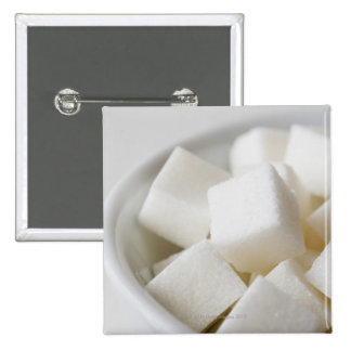 Studio shot of sugar cubes in bowl 15 cm square badge
