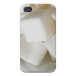 Studio shot of sugar cubes in bowl case for the iPhone 4