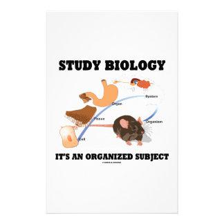 Study Biology It s An Organized Subject Customized Stationery