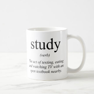 Study definition coffee mug
