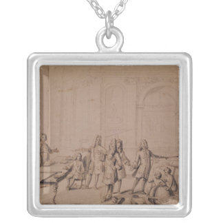 Study for a Lesson being give to the Young Silver Plated Necklace