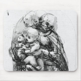 Study for a Madonna with a Cat, c.1478-80 Mouse Mat
