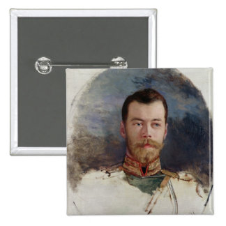 Study for a portrait of Tsar Nicholas II  1898 15 Cm Square Badge