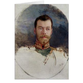Study for a portrait of Tsar Nicholas II  1898 Card