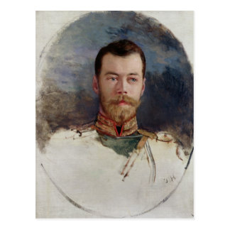 Study for a portrait of Tsar Nicholas II  1898 Postcard