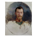 Study for a portrait of Tsar Nicholas II  1898 Poster