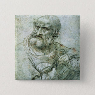 Study for an Apostle from The Last Supper, c.1495 15 Cm Square Badge