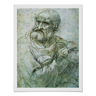 Study for an Apostle from The Last Supper, c.1495 Poster