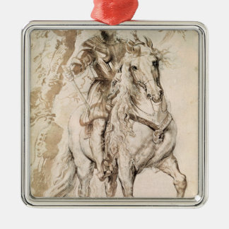 Study for an equestrian portrait christmas ornament