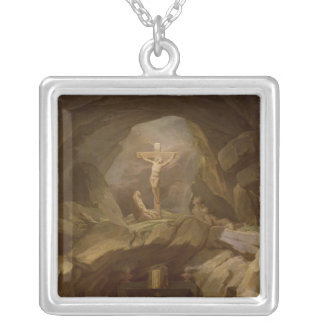 Study for the Chapelle du Calvaire Silver Plated Necklace