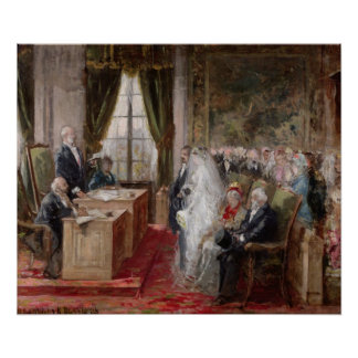 Study for the Civil Marriage Poster