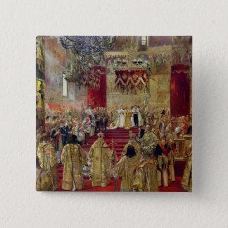 Study for the Coronation of Tsar Nicholas II 15 Cm Square Badge