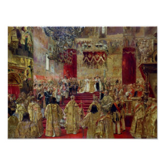 Study for the Coronation of Tsar Nicholas II Poster