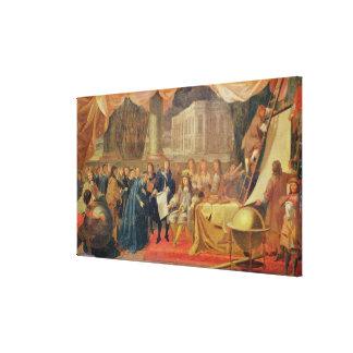 Study for The Establishment of the Academie Canvas Print