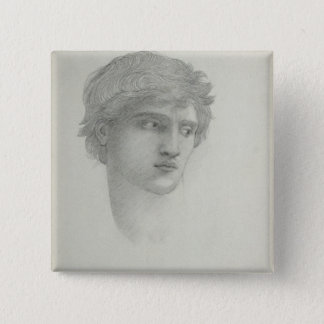 Study for the Head of Perseus (pencil on paper) 15 Cm Square Badge