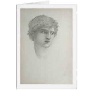 Study for the Head of Perseus (pencil on paper) Greeting Card