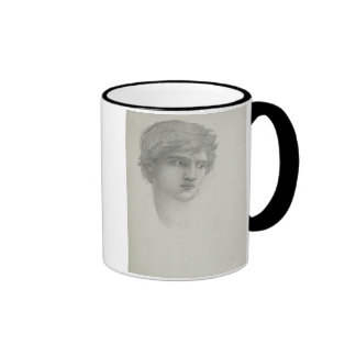 Study for the Head of Perseus (pencil on paper) Ringer Mug