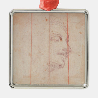 Study for the Head of the Libyan Sibyl Christmas Ornament