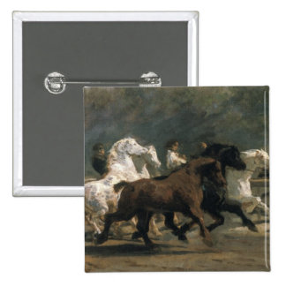 Study for the Horsemarket, 1900 15 Cm Square Badge