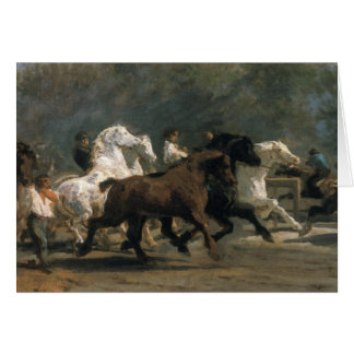 Study for the Horsemarket, 1900 Card