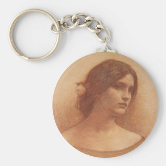 Study for The Lady Clare Basic Round Button Key Ring