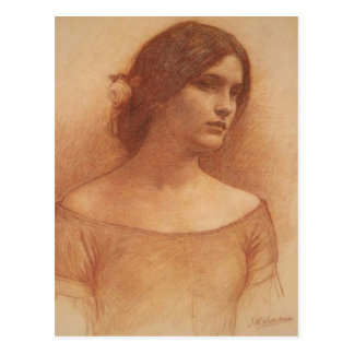 Study for The Lady Clare Postcard