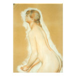 Study for The Large Bathers, Renoir, Impressionism Custom Invitation