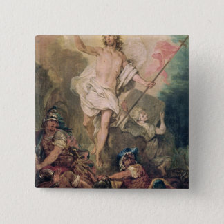 Study for the Resurrection for a painting 15 Cm Square Badge