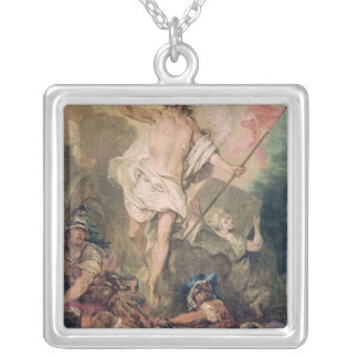 Study for the Resurrection for a painting Silver Plated Necklace