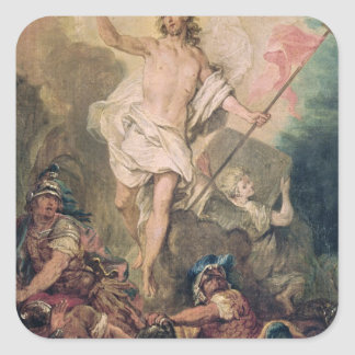 Study for the Resurrection for a painting Square Sticker