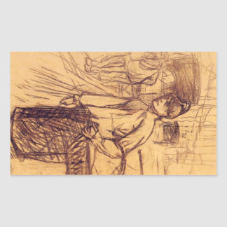 Study for the washing machine by Toulouse-Lautrec Stickers