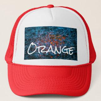 Study In Watercolor - Orange Trucker Hat