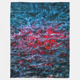 Study In Watercolor - Red Fleece Blanket