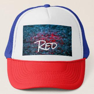 Study In Watercolor - Red Trucker Hat