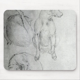 Study of a dog and a cat, c.1480 mouse mat
